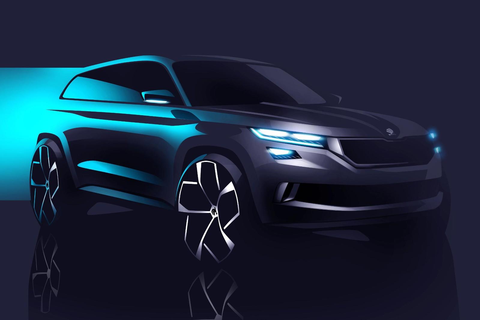 Skoda Visions Concept Previews 7 Seater Quot Kodiak Quot Suv At
