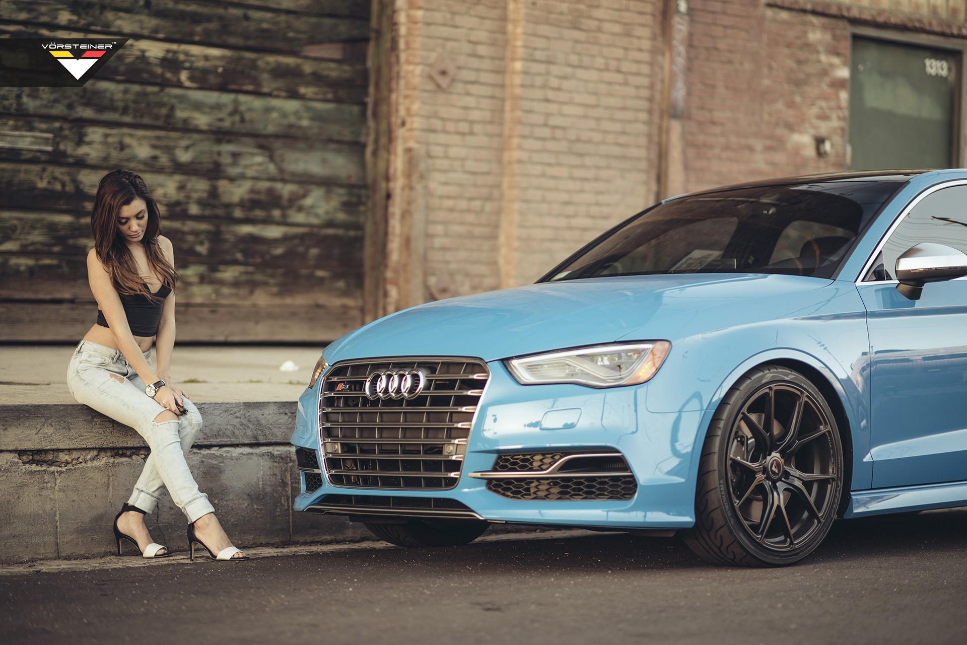 Sky Blue Audi S3 Sedan On Vorsteiner V Ff 103 Wheels In