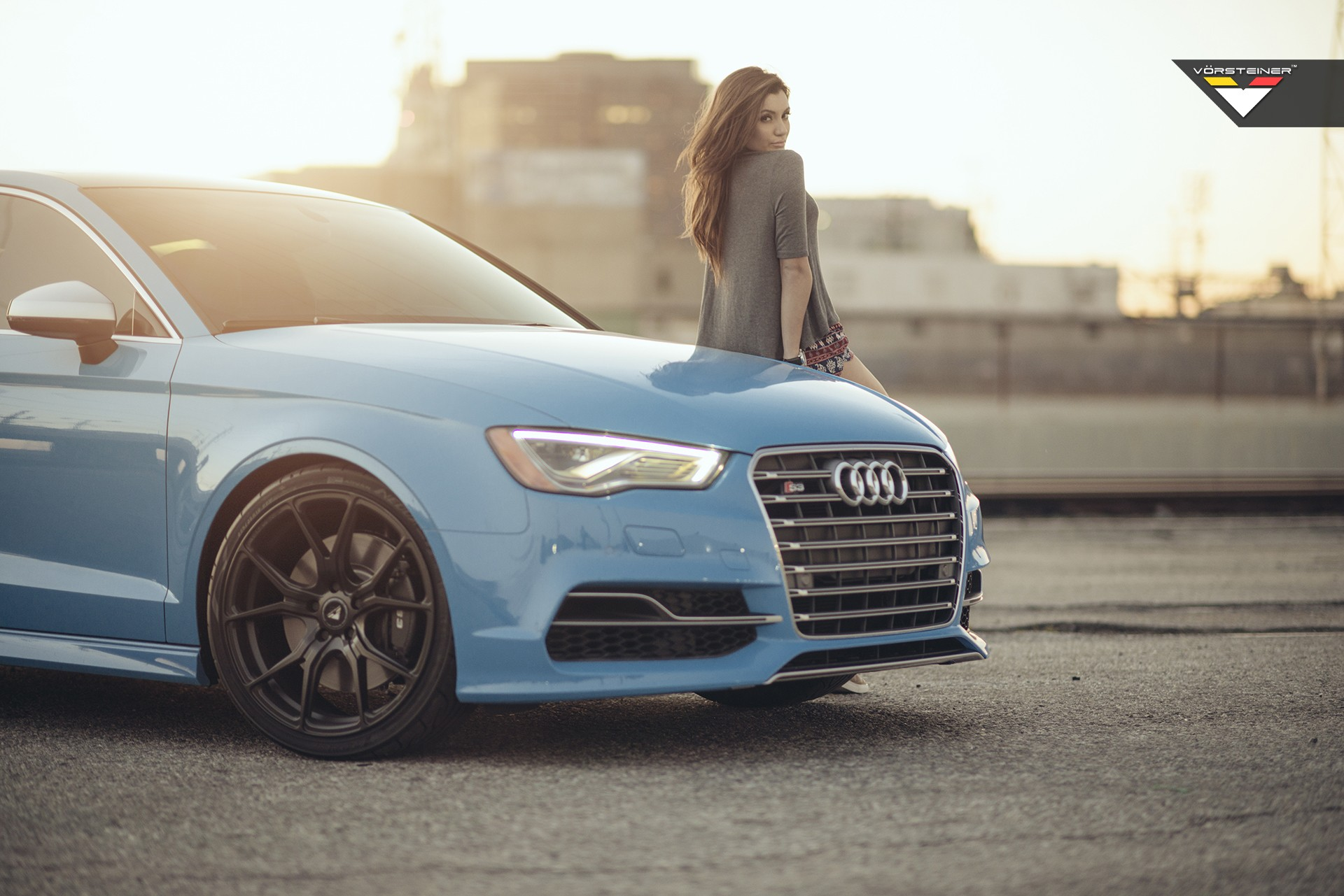Sky Blue Audi S3 Sedan On Vorsteiner V Ff 103 Wheels In