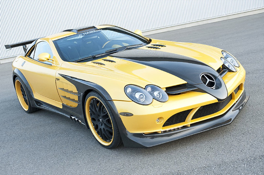 slr red and yellow edition by hamann autoevolution. Black Bedroom Furniture Sets. Home Design Ideas