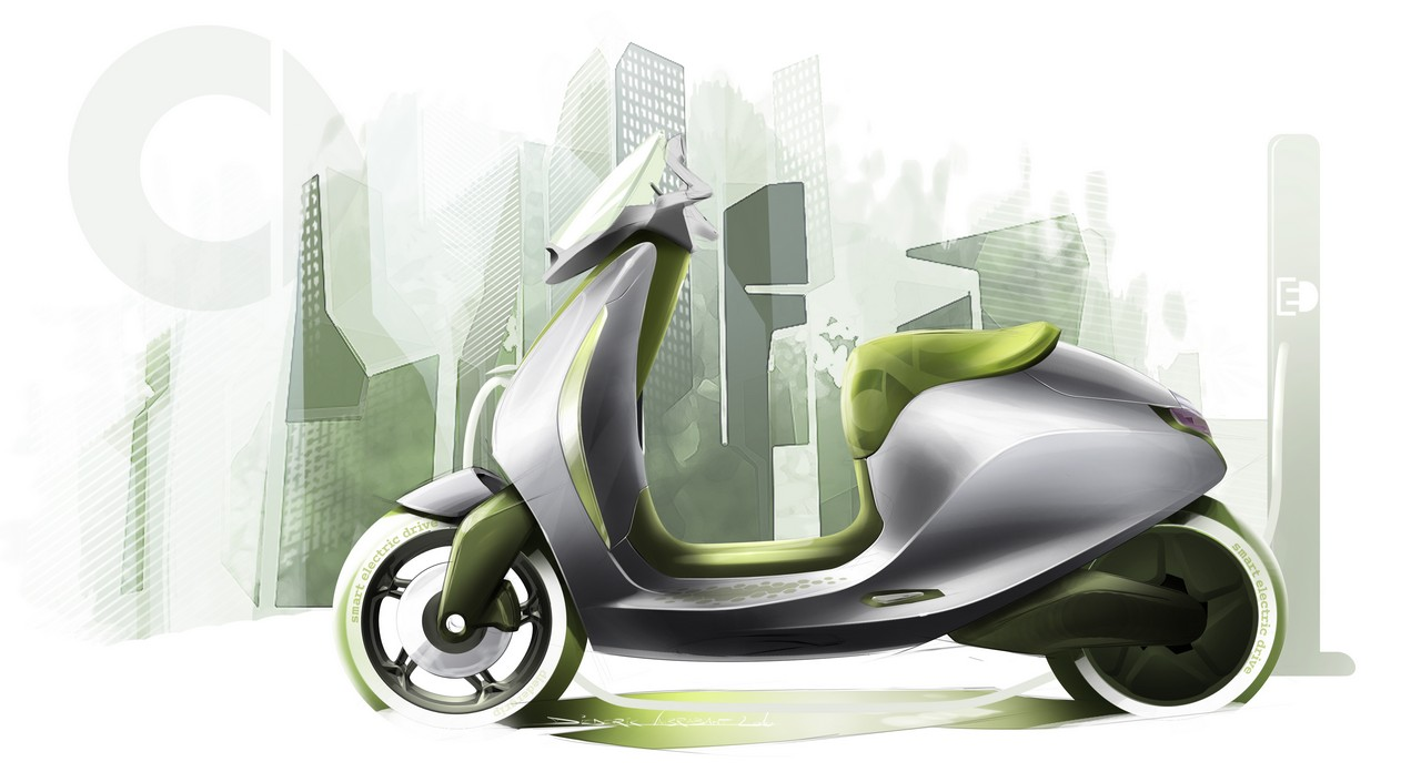 Smart Electric Scooter Sketches Revealed Autoevolution