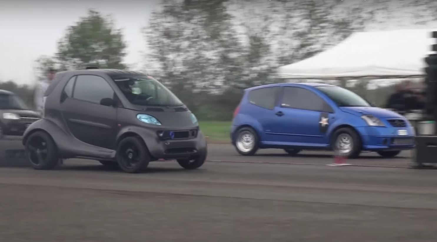 smart fortwo Dragster Has 1 9 TDI Engine Swap and 230 HP