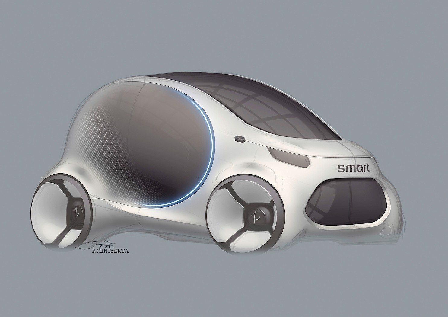 smart vision eq fortwo says goodbye to the steering wheel. Black Bedroom Furniture Sets. Home Design Ideas