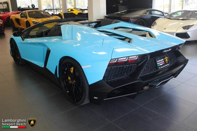 Smurf Blue Aventador Roadster 50th Anniversary For Sale In