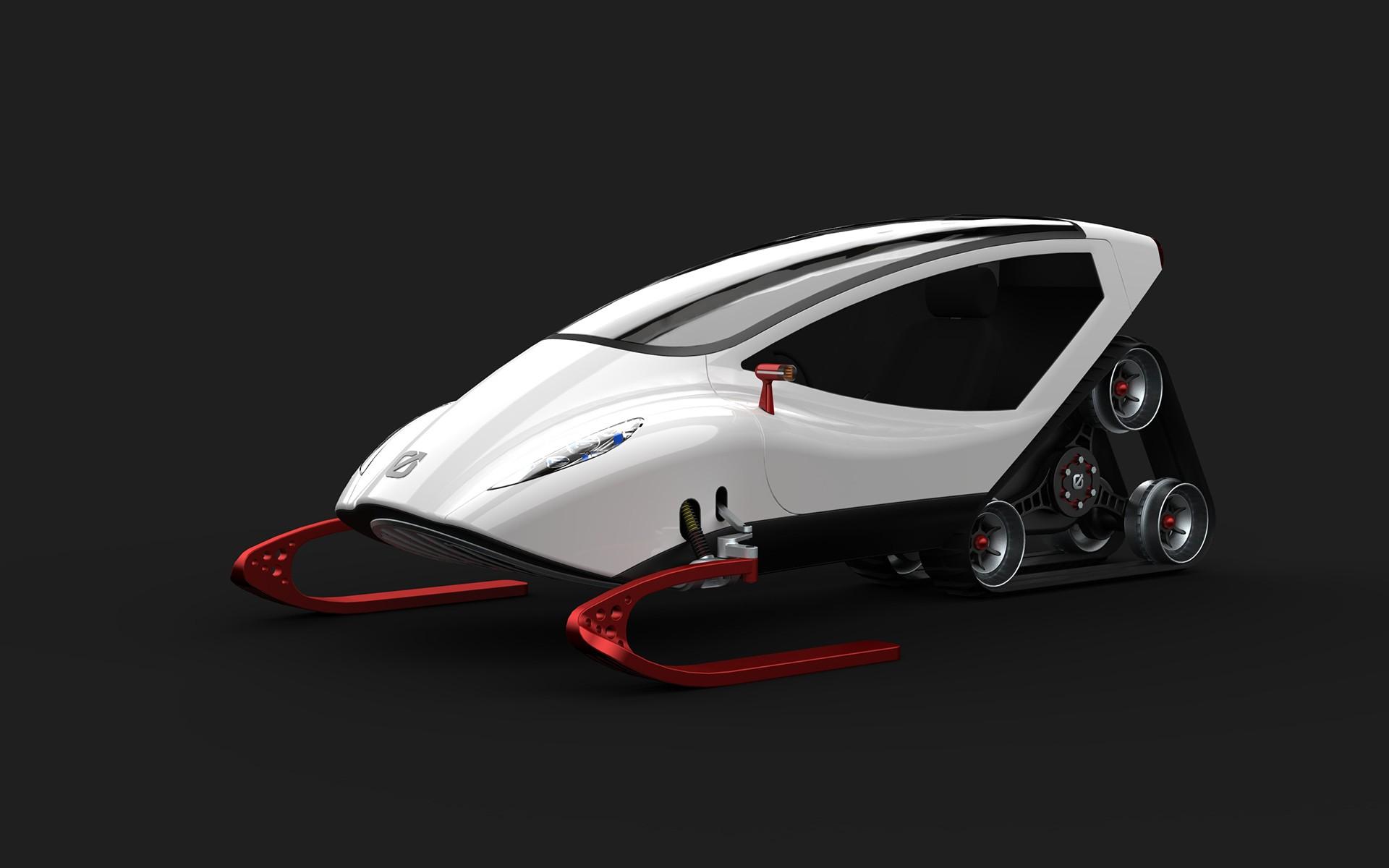 snow crawler the koenigsegg of electric snowmobile concepts autoevolution. Black Bedroom Furniture Sets. Home Design Ideas
