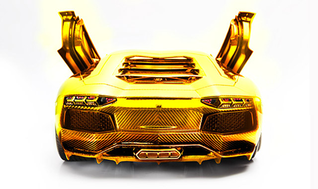 Solid Gold Lamborghini Worth 7 5m Previewed In Dubai