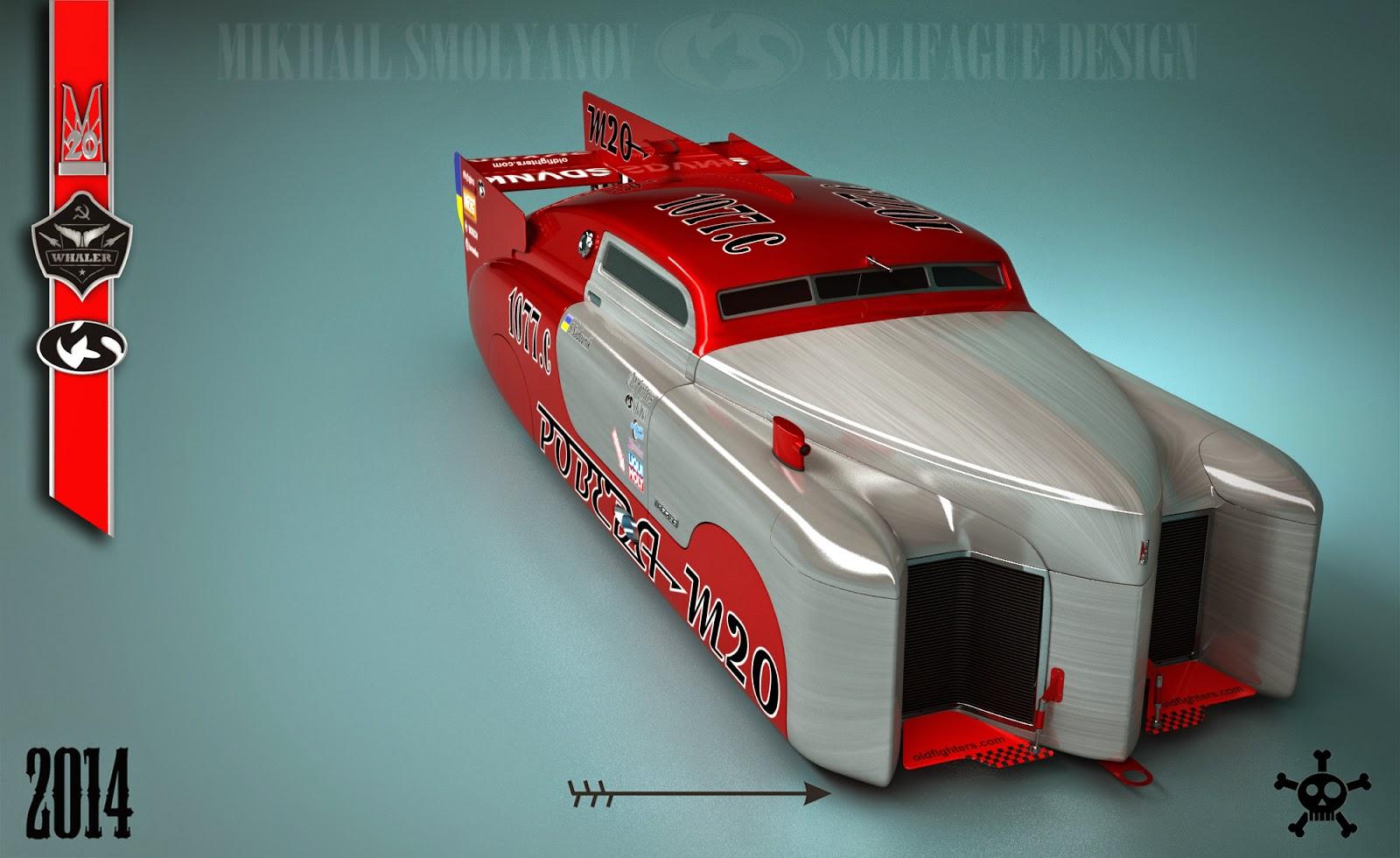 Soviet M20 Pobeda Redesigned To Race At Bonneville Salt