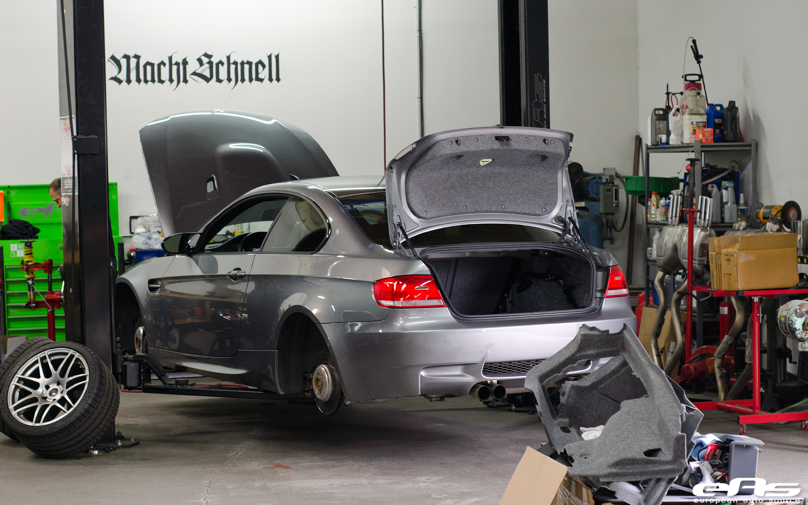 Space Grey Bmw E M Climbs On Kw Suspension