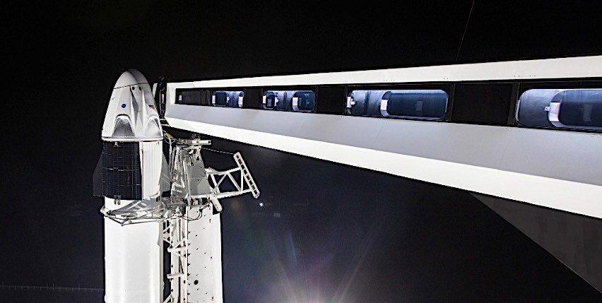 SpaceX set for its first orbital test flight of Crew Dragon