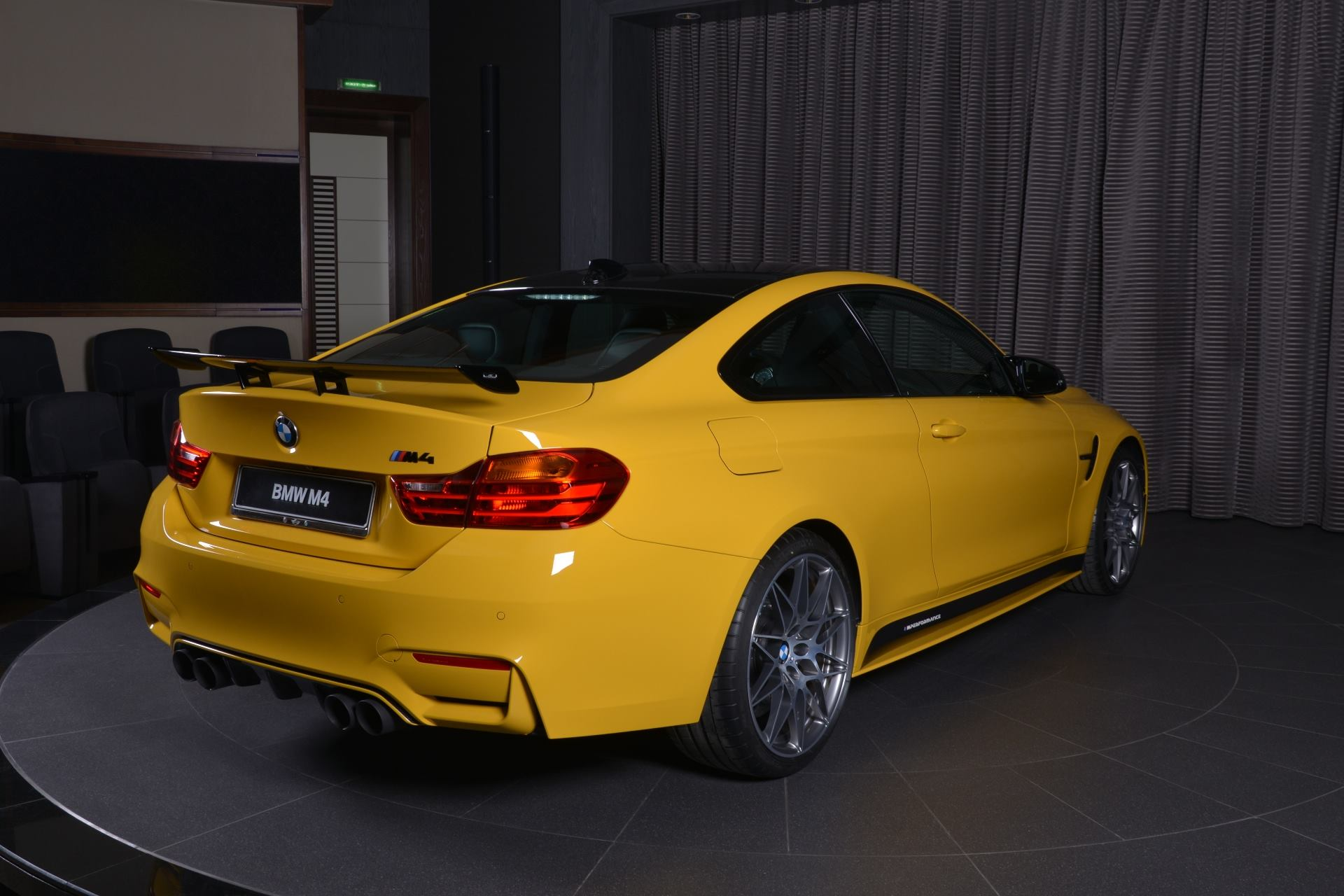 Speed Yellow Bmw M4 Competition Pack Has Carbon Kit In Abu