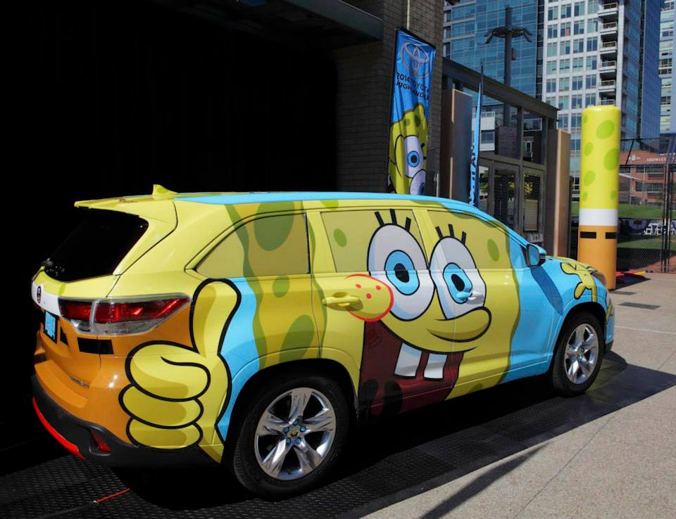 Spongebob Toyota Highlander Revealed
