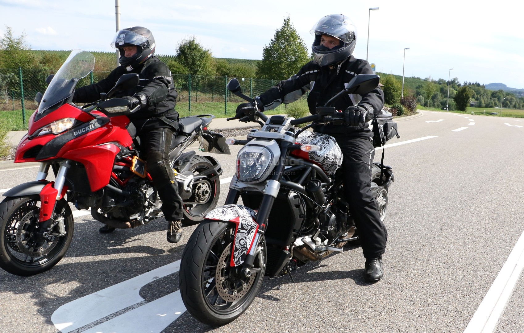 Spyshots Of The Belt Driven Ducati Diavel Show A Much