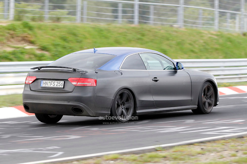 Spyshots 2010 Audi Rs5 With Retractable Rear Spoiler