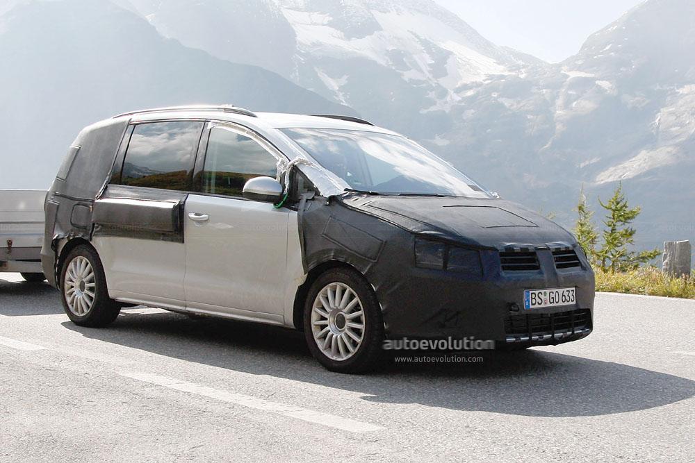 Spyshots: 2010 Volkswagen Sharan, Less Camo - autoevolution