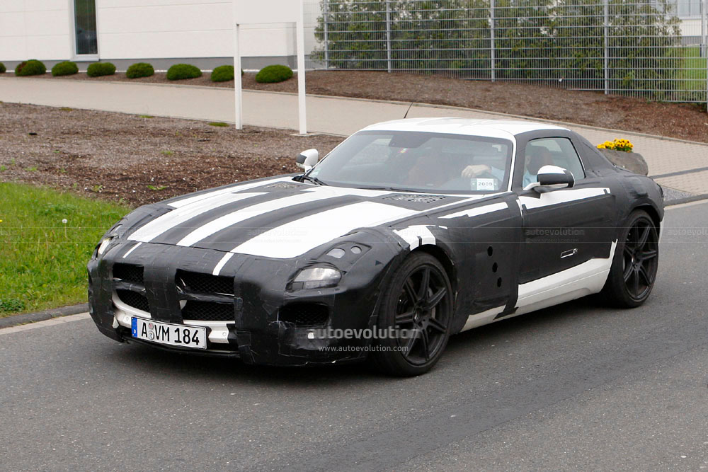 spyshots 2011 mercedes benz sls amg autoevolution. Black Bedroom Furniture Sets. Home Design Ideas