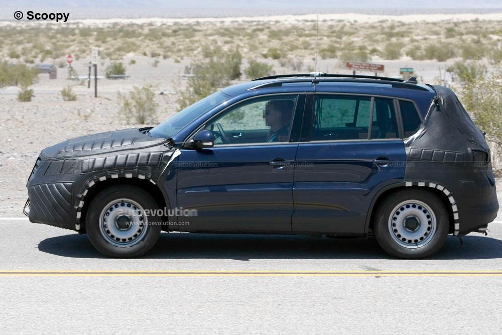 Spyshots: 2011 Volkswagen Tiguan, Same Camo, Different Color - autoevolution