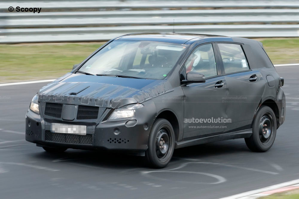 spyshots 2012 mercedes b klasse autoevolution. Black Bedroom Furniture Sets. Home Design Ideas