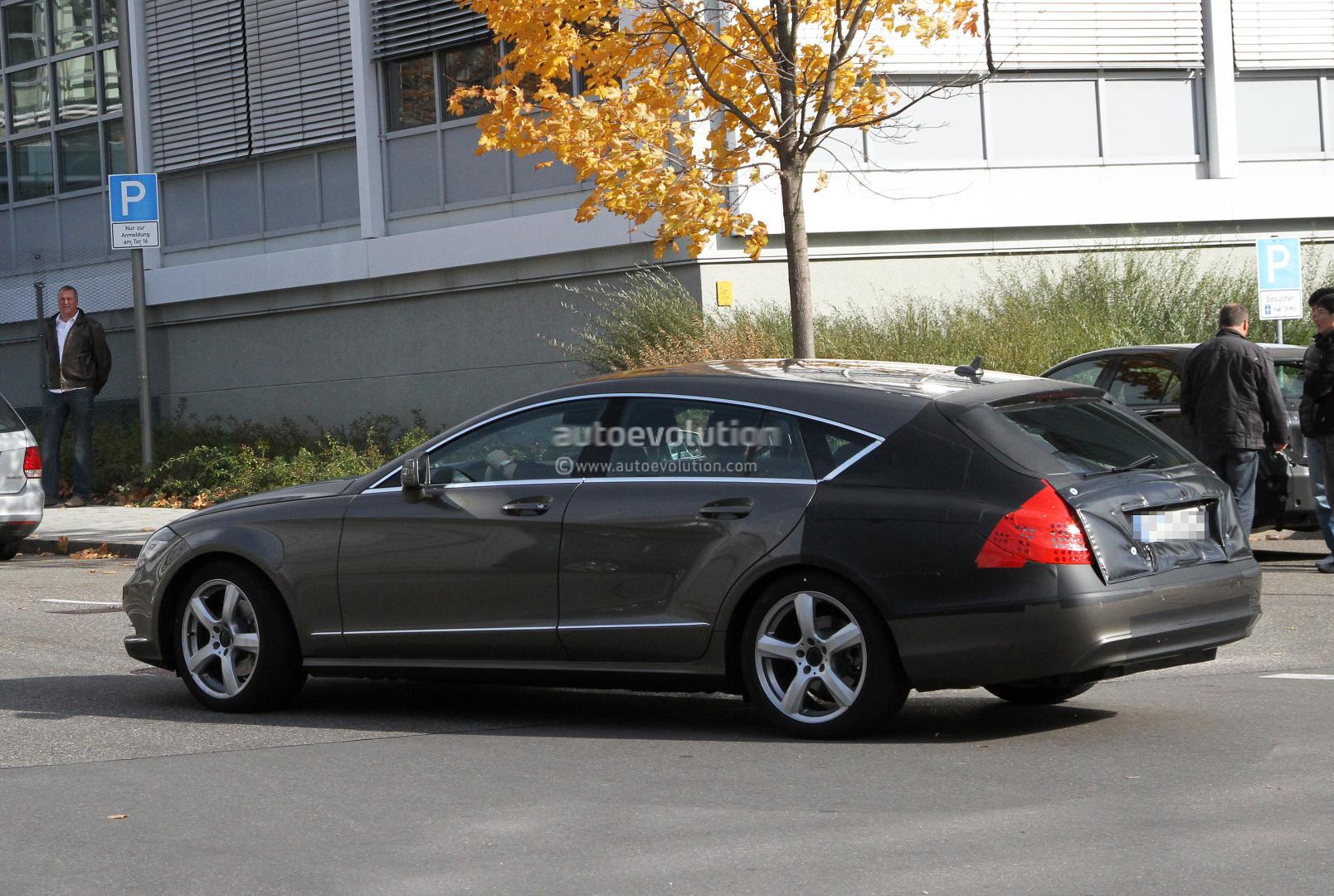 spyshots 2012 mercedes cls shooting brake autoevolution. Black Bedroom Furniture Sets. Home Design Ideas