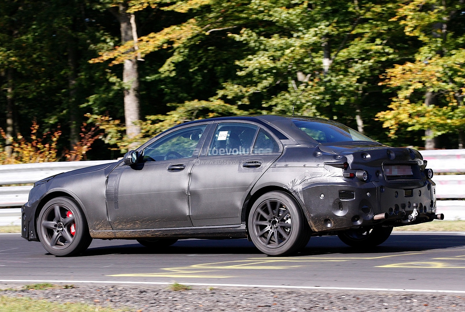 spyshots 2014 mercedes c63 amg with 5 5l twin turbo. Black Bedroom Furniture Sets. Home Design Ideas