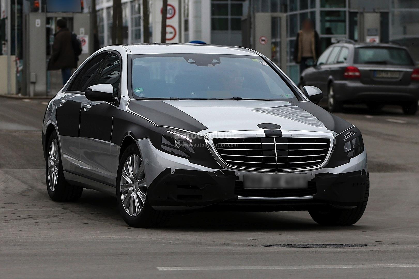 Spyshots 2014 Mercedes S Class Loses More Camo