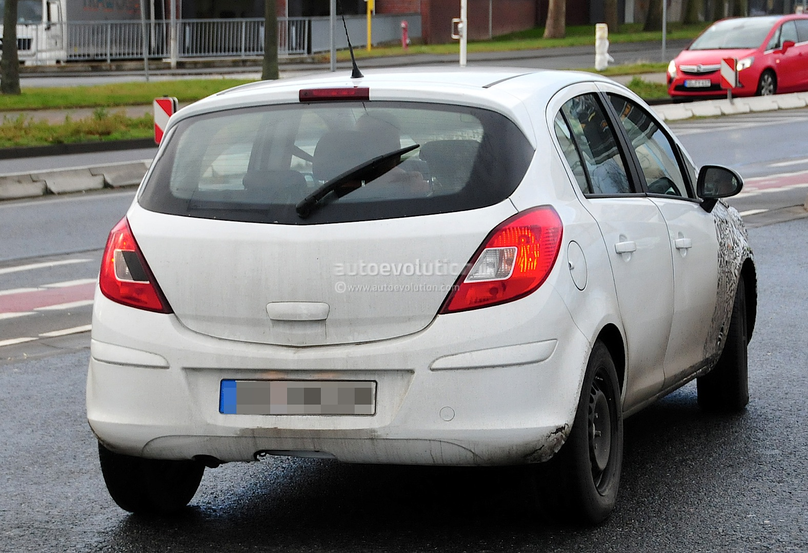 spyshots 2014 opel corsa facelift interior new dash and console autoevolution. Black Bedroom Furniture Sets. Home Design Ideas