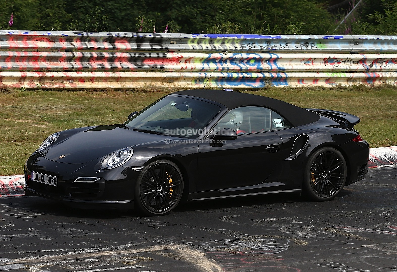 spyshots 2014 porsche 911 turbo cabriolet laps the nurburgring