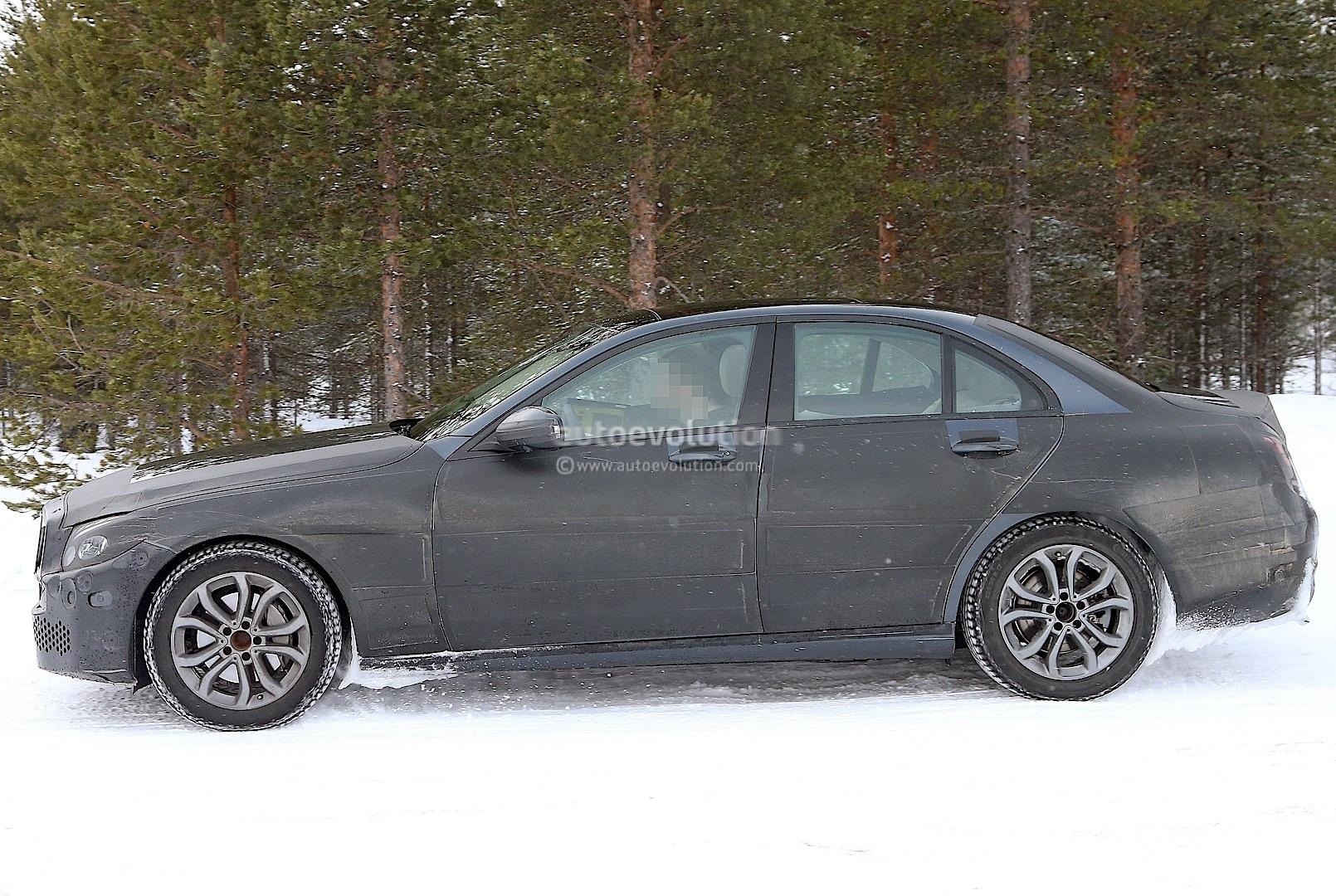 Spyshots: 2014 W205 Mercedes Benz C-Class Sheds Some Camo