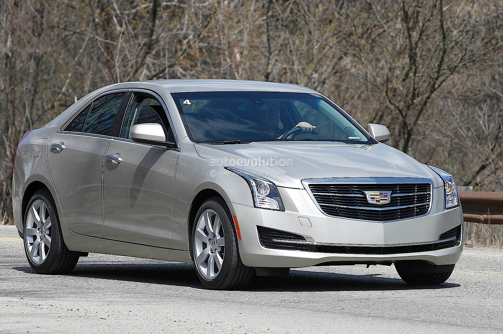 spyshots 2015 cadillac ats spied up close autoevolution. Black Bedroom Furniture Sets. Home Design Ideas