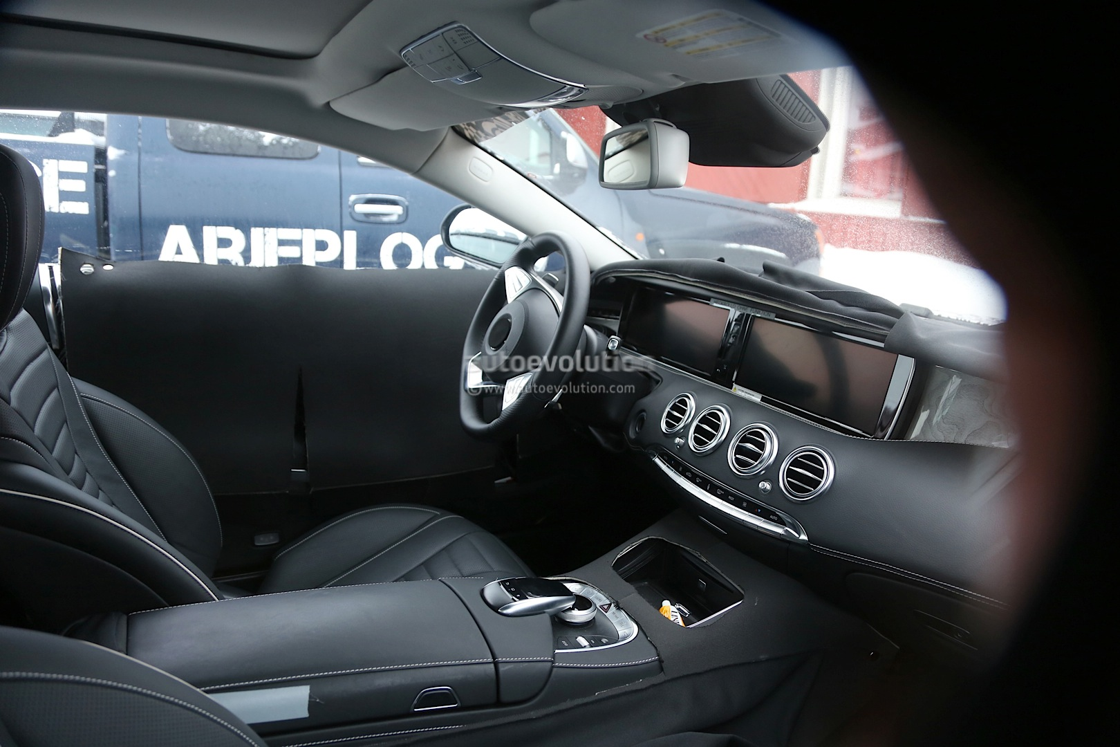 spyshots 2015 mercedes benz s class coupe interior revealed autoevolution. Black Bedroom Furniture Sets. Home Design Ideas