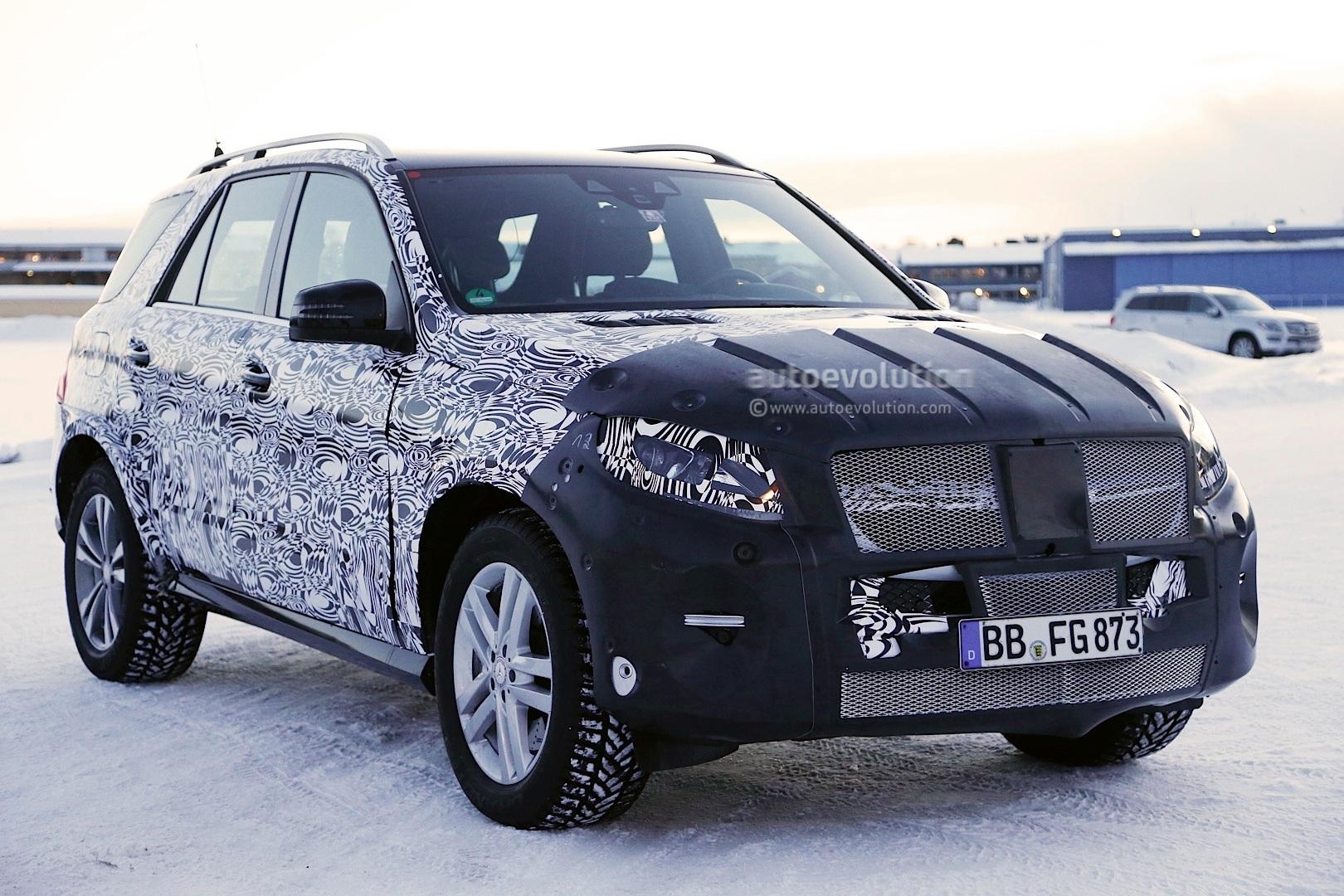 Spyshots Mercedes M Class Getting Major Facelift
