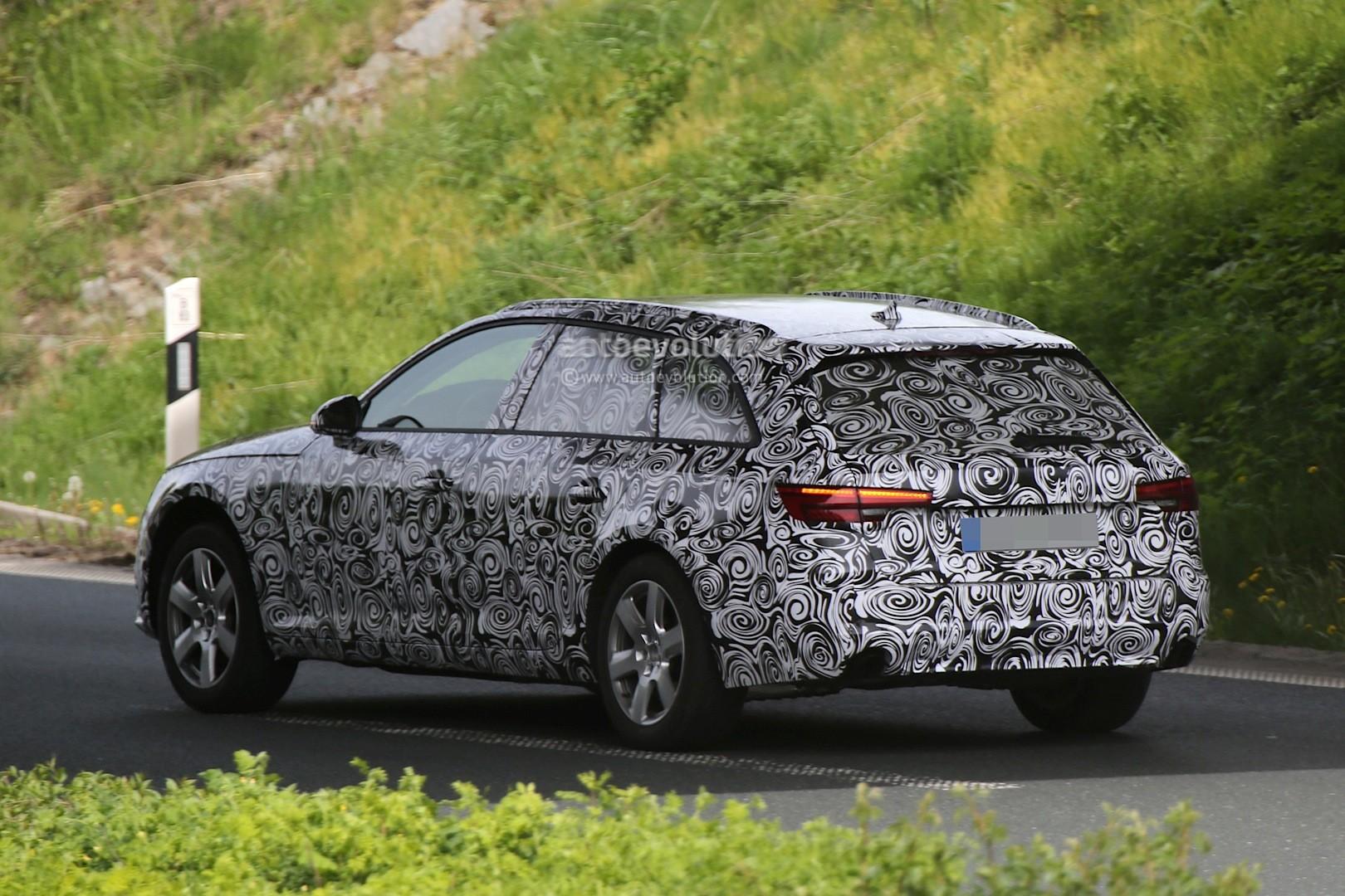 Spyshots 2016 Audi A4 Avant Shows LED Headlights And