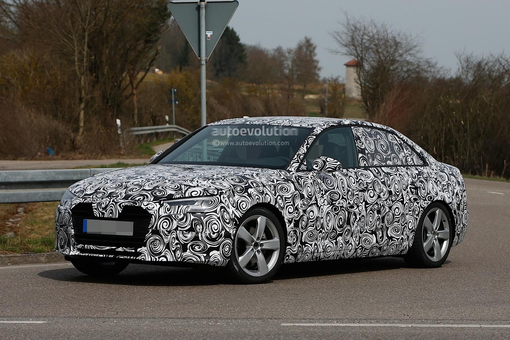 Spyshots: 2016 Audi A4 B9 Shows Matrix LED Headlights - autoevolution