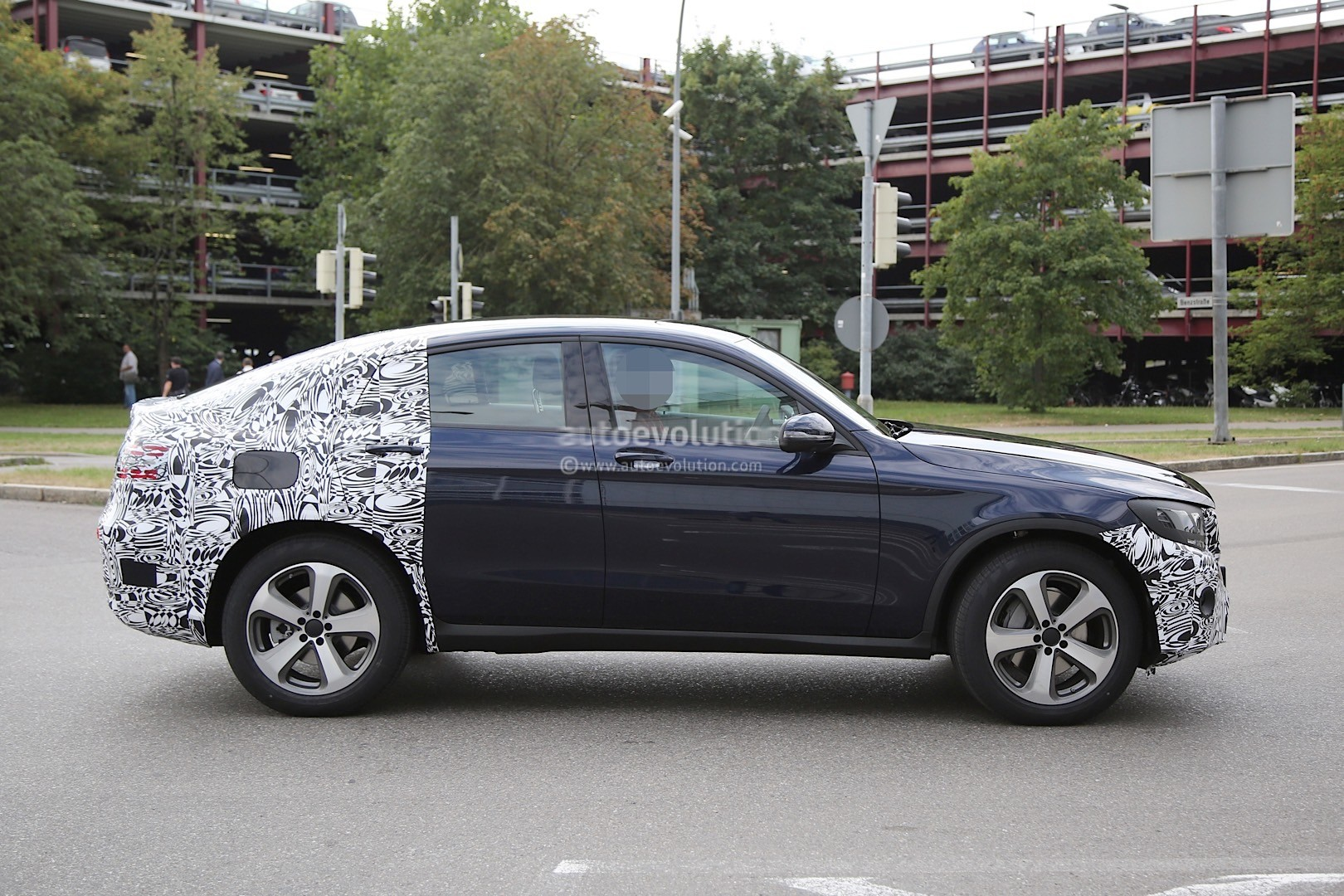 Spyshots 2016 mercedes benz glc coupe spotted while for Mercedes benz glc