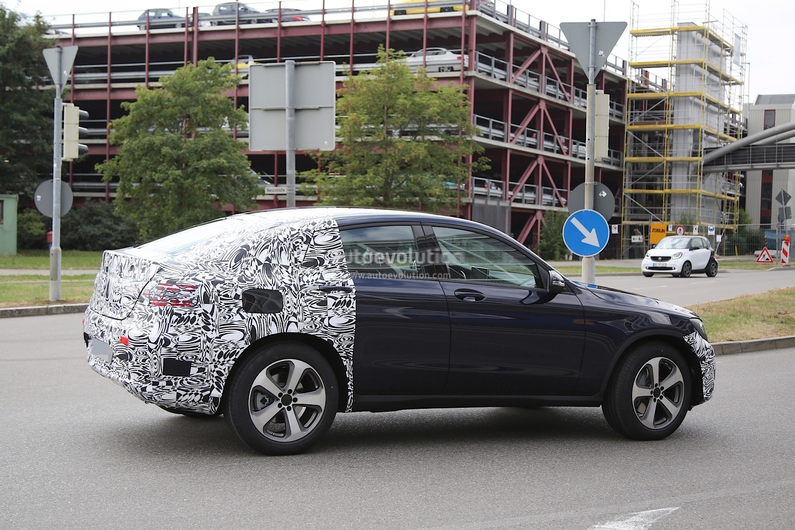 Spyshots 2016 Mercedes Benz Glc Coupe Spotted While Testing Expect