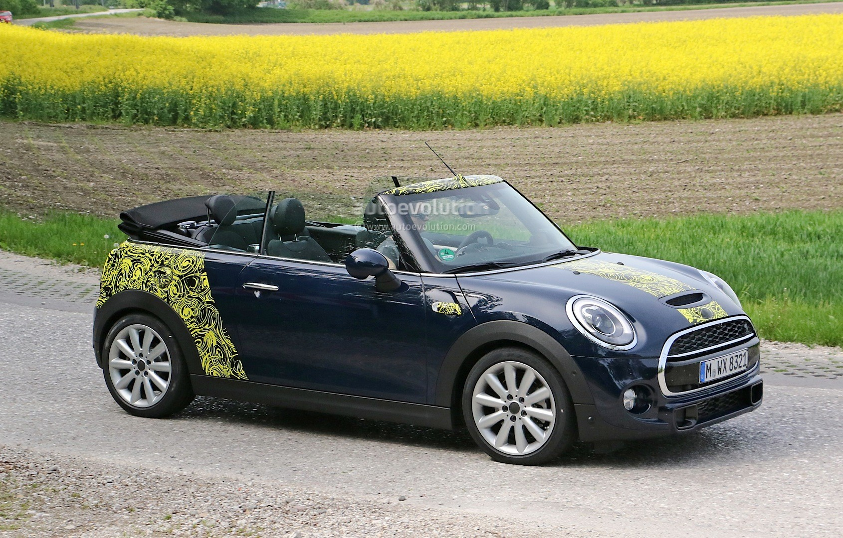 Spyshots 2016 MINI Cooper S Convertible Seen With Top