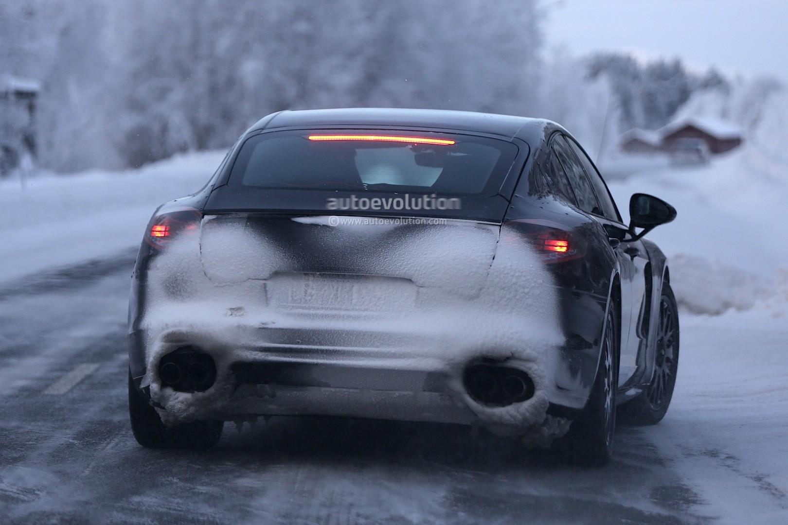 Spyshots 2016 Porsche Panamera Prototype Undergoes Winter
