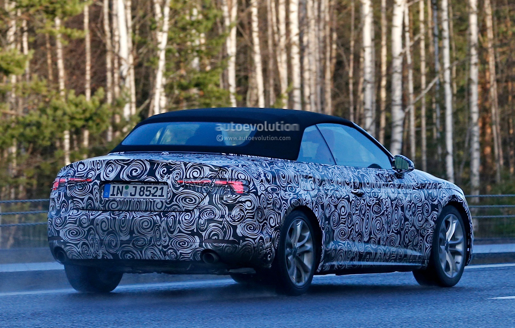 spyshots 2017 audi a5 cabriolet spied for the first time autoevolution. Black Bedroom Furniture Sets. Home Design Ideas