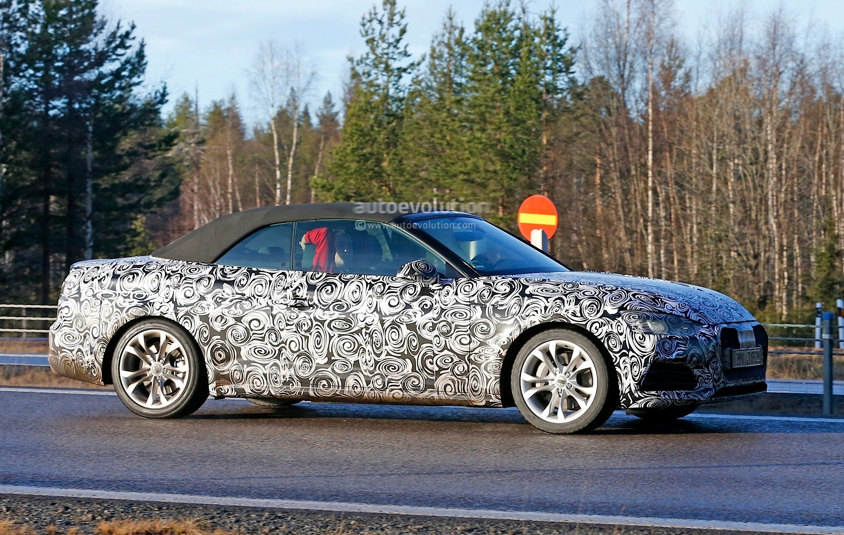 spyshots 2017 audi a5 cabriolet spied for the first time. Black Bedroom Furniture Sets. Home Design Ideas