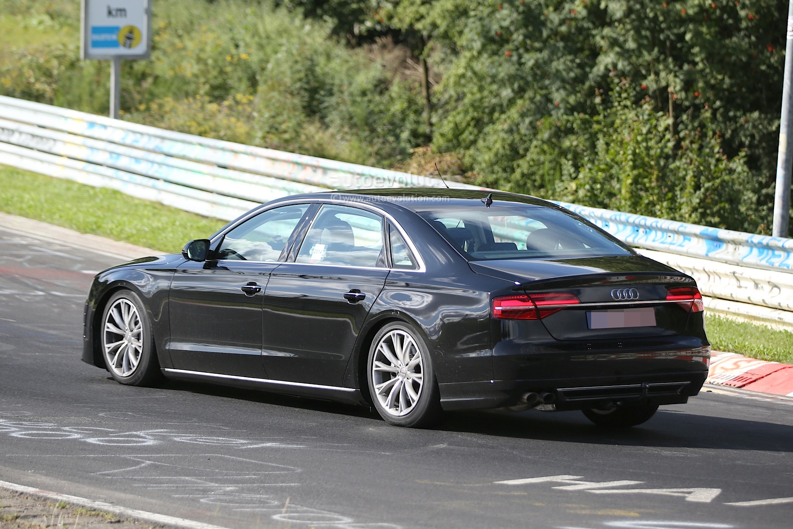 Spyshots: 2017 Audi A8 Test Mule Spotted at the Nurburgring ...