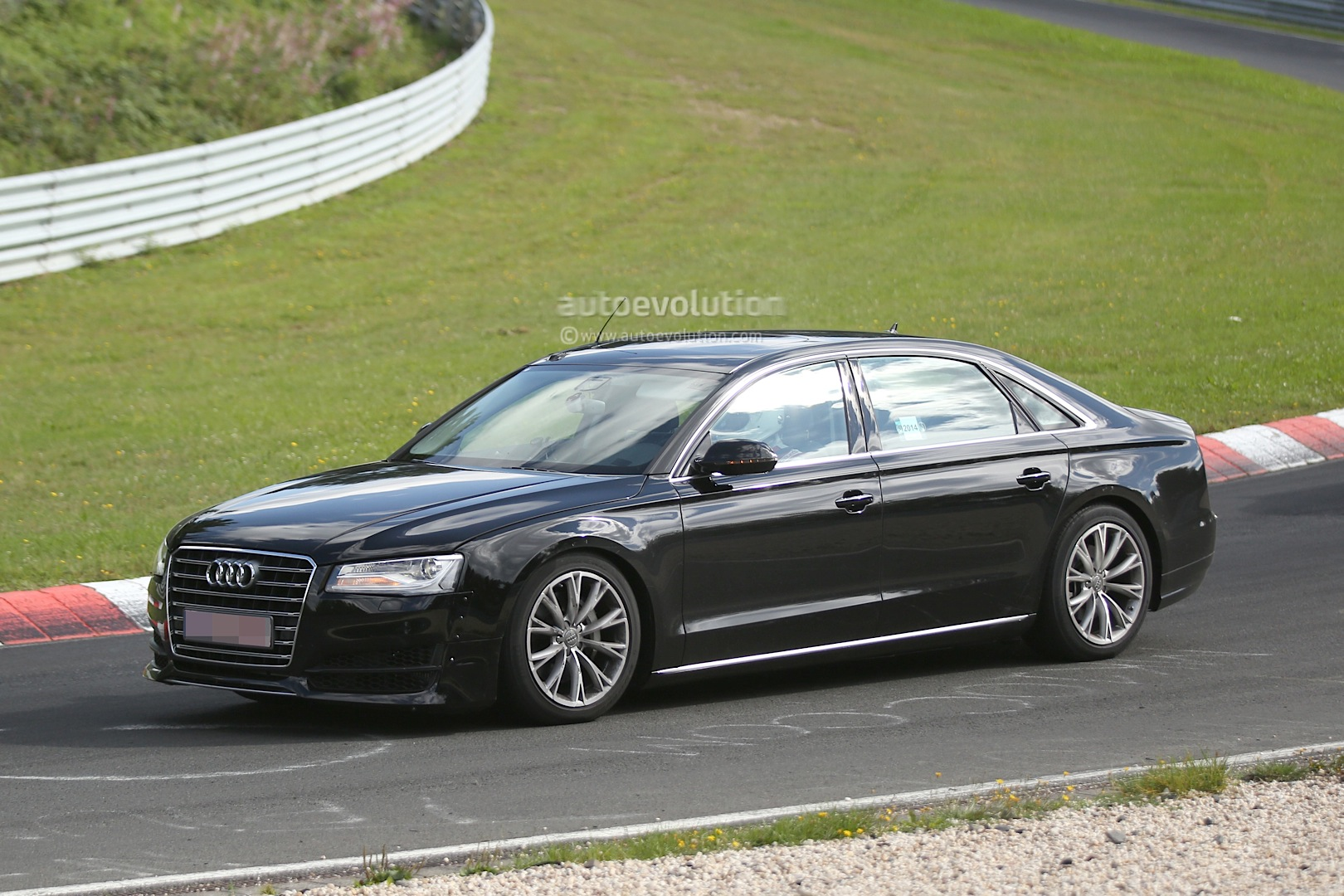 spyshots 2017 audi a8 test mule spotted at the nurburgring autoevolution. Black Bedroom Furniture Sets. Home Design Ideas