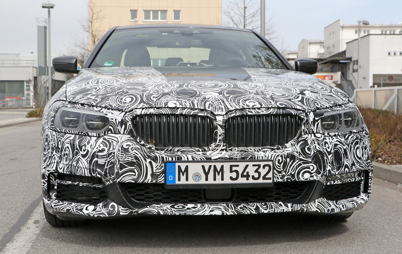 spyshots 2017 bmw 5 series front bumper m sport pack and interior
