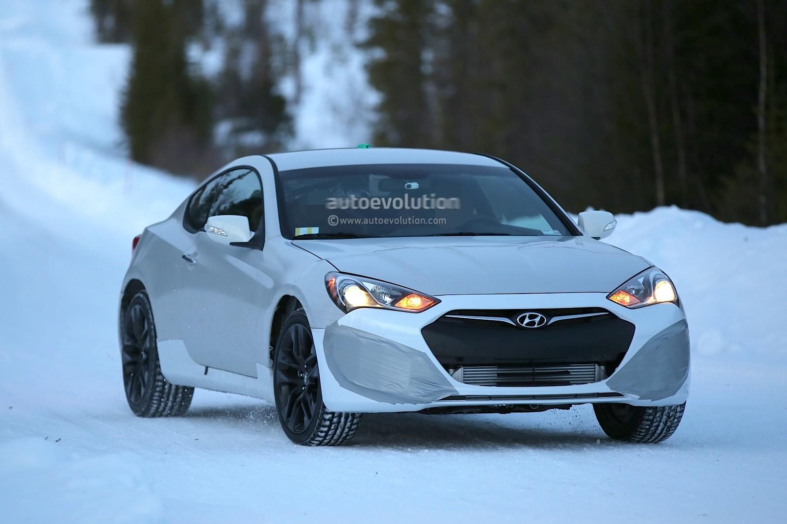 Spyshots 2017 Hyundai Genesis Coupe Mule Starts Winter