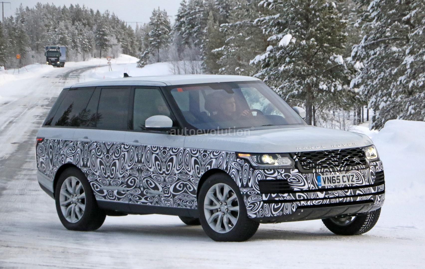Spyshots 2017 Range Rover Facelift Undergoes Winter