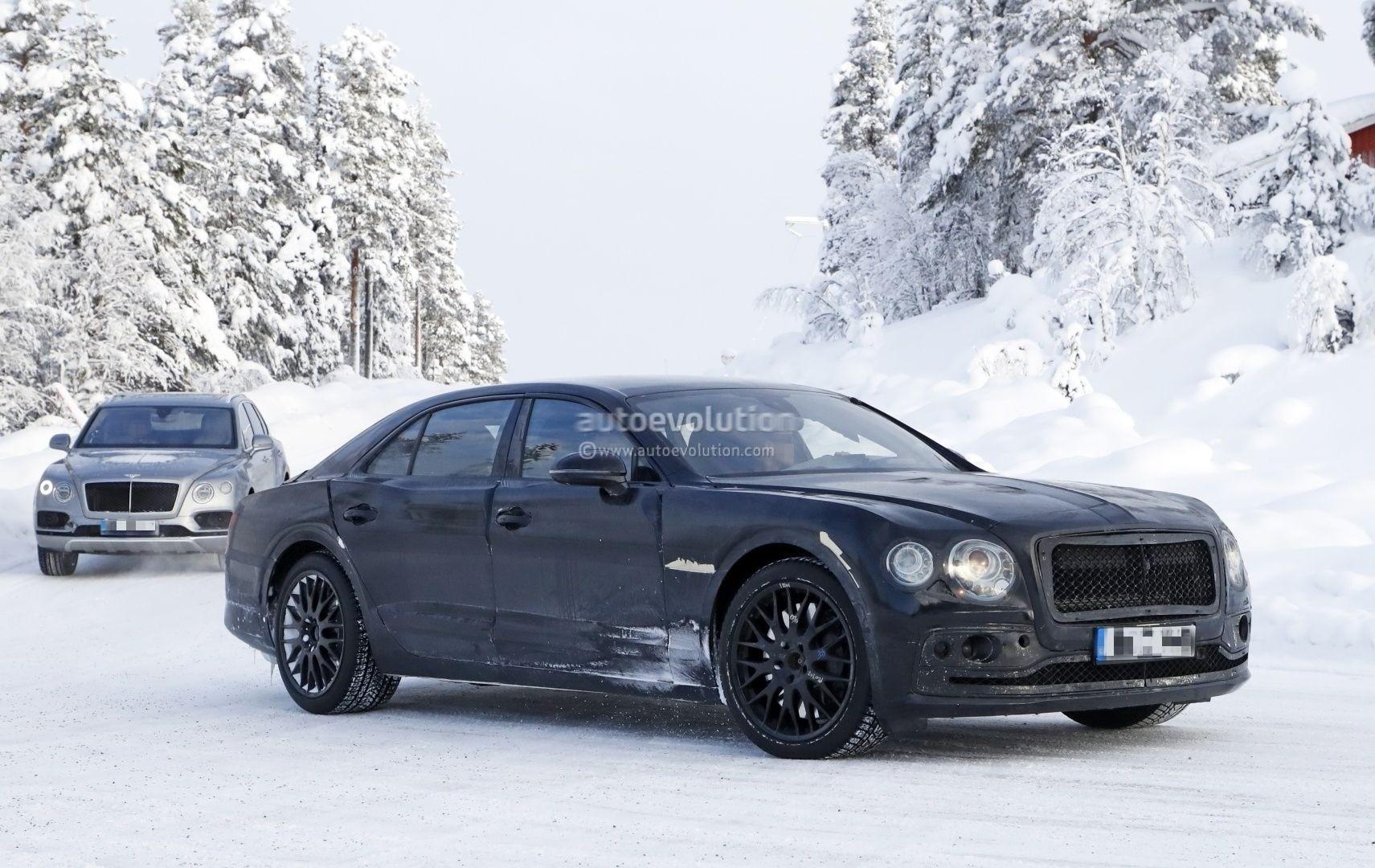 Spyshots Bentley Flying Spur Has W Engine Porsche Panamera Platform