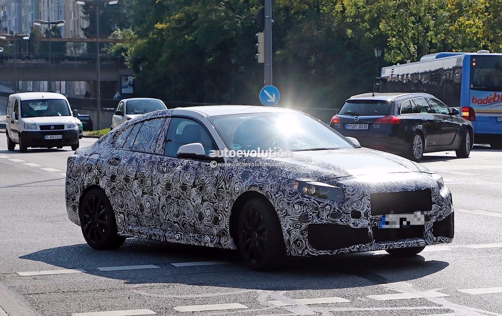 BMW 2 Series Gran Coupe spied