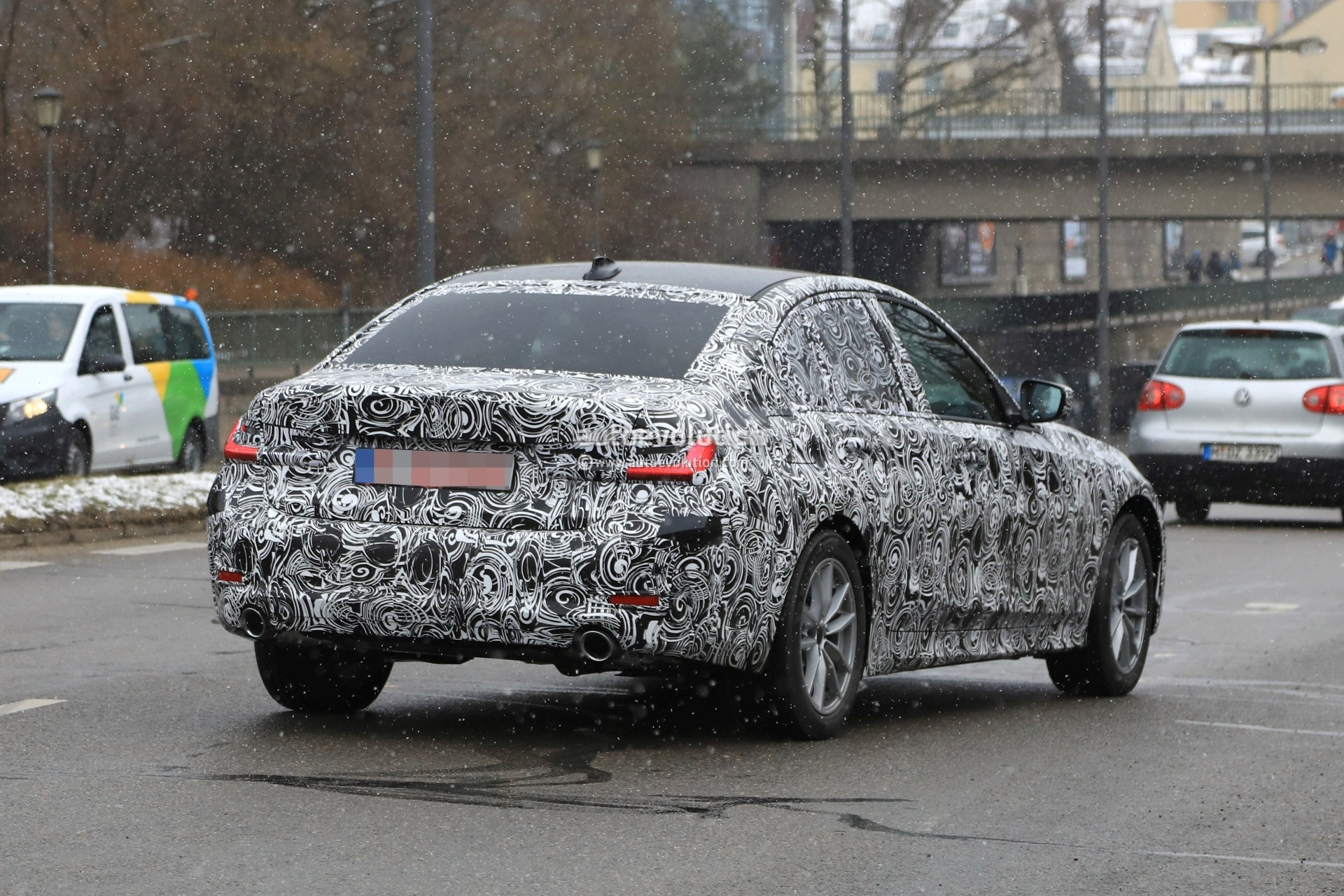 Spyshots 2019 BMW 3 Series Shows Baby 5 Series Look with Sportier