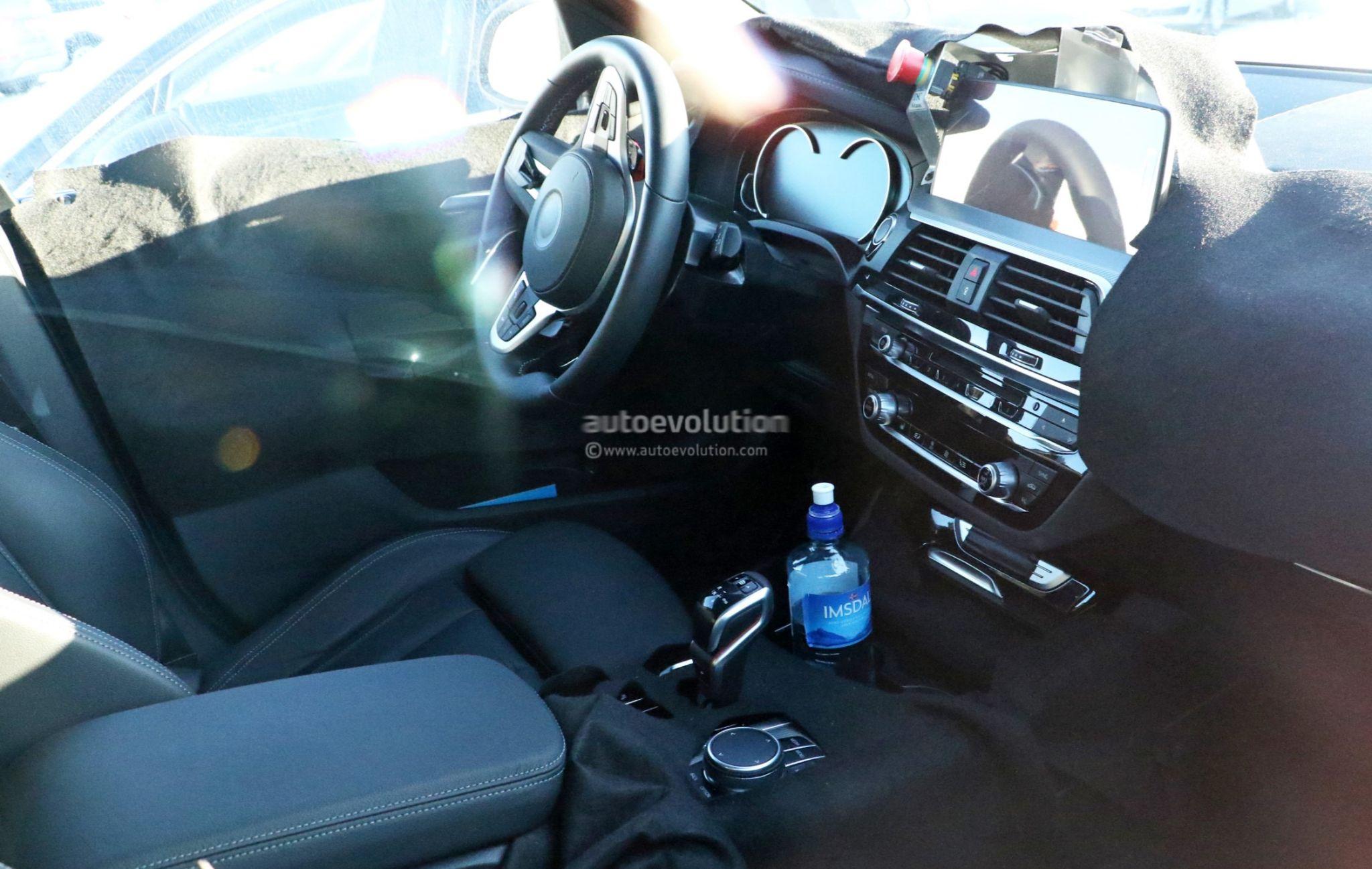 Spyshots 2019 Bmw X3 M Interior Reveals M5 Steering Wheel And Gear