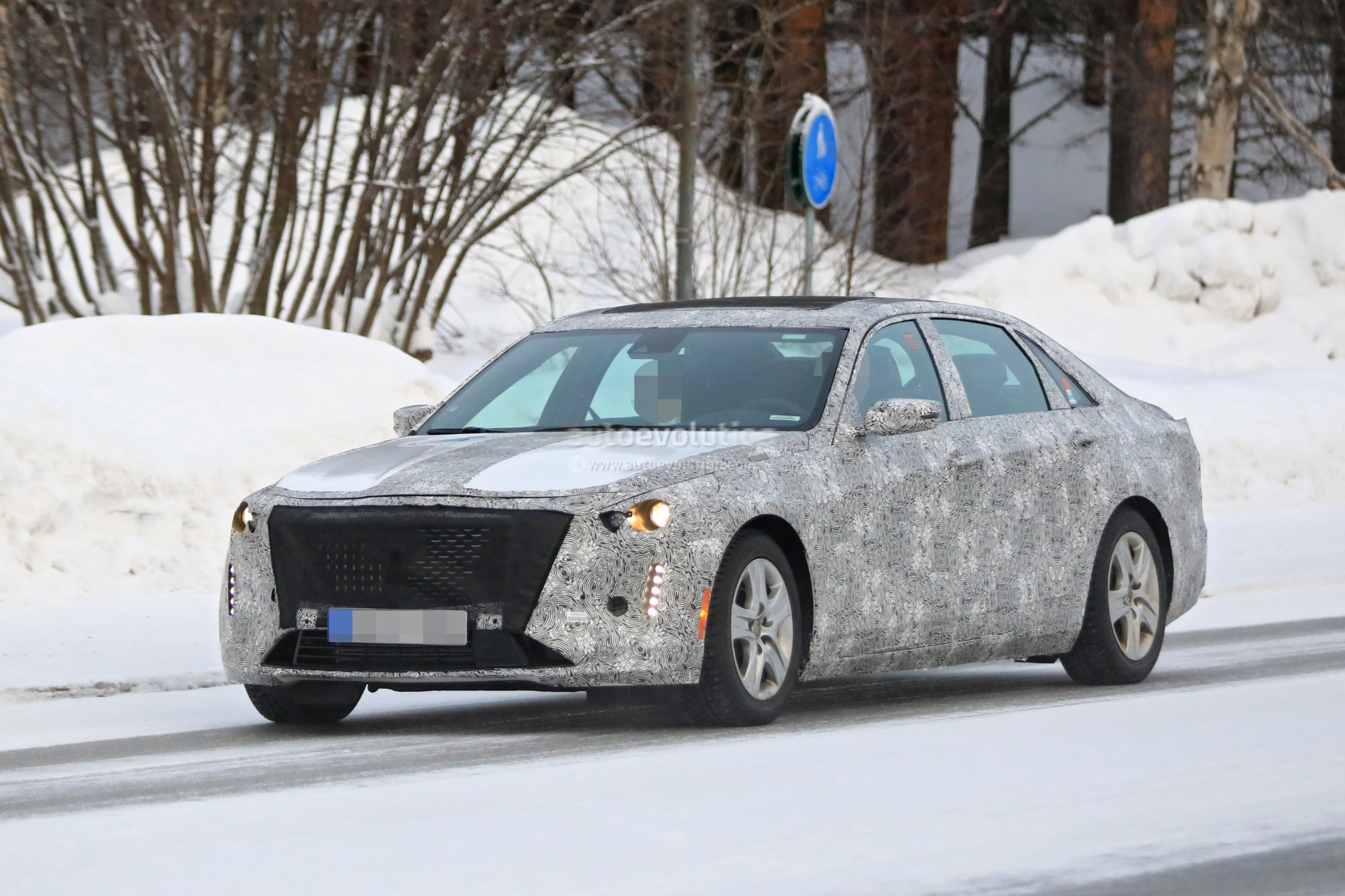 Spyshots: 2019 Cadillac CT6 Caught Testing Near The Arctic ...