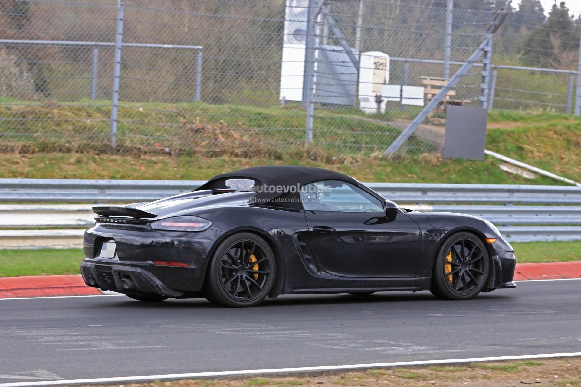 Spyshots: 2019 Porsche 718 Boxster Spyder Hits Nurburgring ...