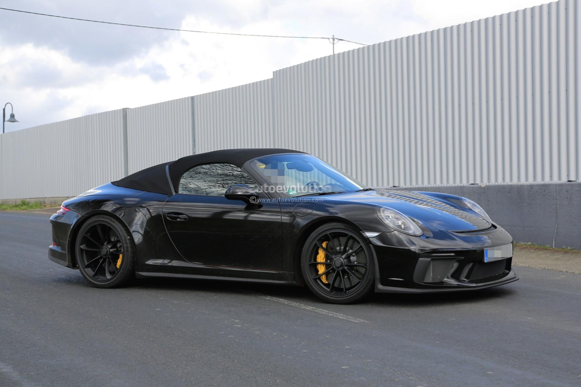 Spyshots 2019 Porsche 911 Speedster Looks Like A Gt3